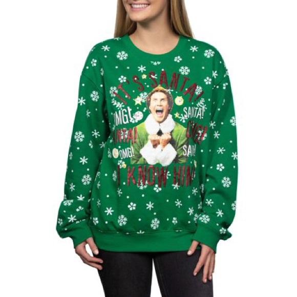 Light Up Christmas Sweater.Elf Light Up Christmas Sweater
